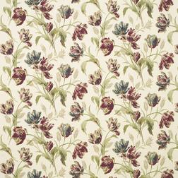 Гардинная ткань в крупные цветы тюльпана GOSFORD  (Paprika)