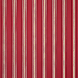Полосатая гардинная ткань в широкую красную полоску FORBURY STRIPE (Cranberry)