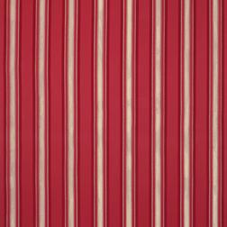 Полосатая гардинная ткань в широкую красную полоску FORBURY STRIPE (Cranberry)