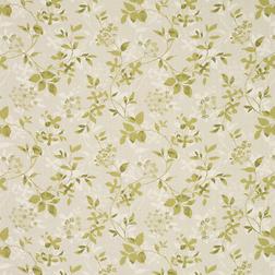 Гардинная ткань из хлопка и льна с растительным рисунком ASHDOWN (Olive)