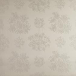 Шелковая ткань серо-бежевого цвета с вышитыми цветами GYPSOPHILA (Sable)