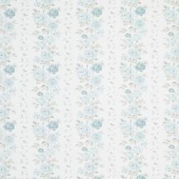 Ткань в розы голубого цвета CLARISSA (Duck Egg)
