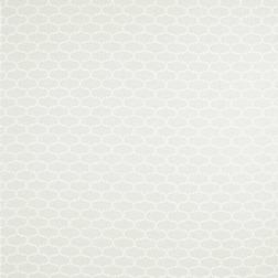 Ткань для гардин с мелким цветочным рисунком белого цвета FLORAL TRELLIS VOILE (White)