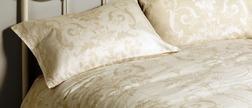 Набор постели цвета шампанского с одинарным пододеяльником JOSETTE SG 137*200, 50*75 set of-1
