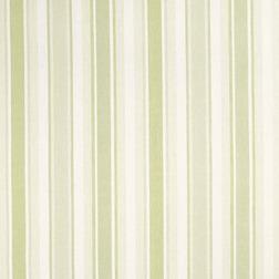 Гардинная ткань из хлопка и льна в полоску светло-зеленого цвета AWNING STRIPE (Apple)