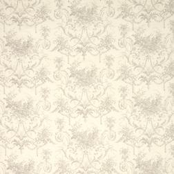 Ткань для штор с крупным цветочным рисунком TUILERIES (Dove Grey)