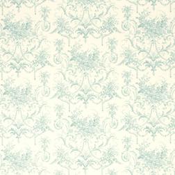 Гардинная ткань с элегантным голубым рисунком TUILERIES (Duck Egg)