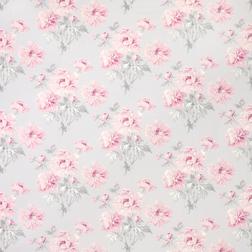 Ткань для штор в розовые цветы BEATRICE (Cyclamen)