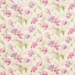 Гардинная ткань с нежным рисунком цветов тюльпана GOSFORD (Cyclamen)