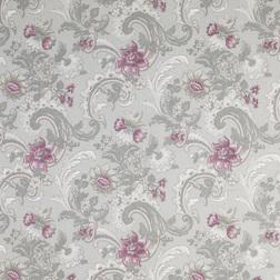 Ткань из вискозы и льна с ярким цветочным рисунком BAROQUE (Pale Grape)
