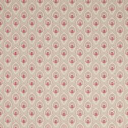 Ткань для штор с рисунком перьев павлина MONTAGUE (Ruby)
