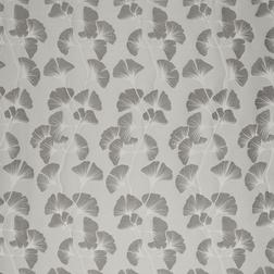 Ткань гардинная с рисунком листочков серого цвета GEORGINA (Pale Charcoal)