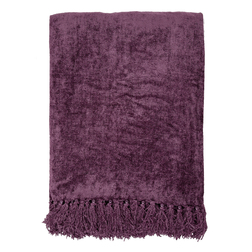 Мягкий плед цвета спелого винограда SHIRLAND 140*195 (Grape)
