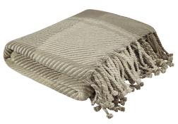 Плед в бежевых и трюфельных тонах DYLAN 150*200 (Truffle)