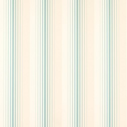 Бумажные обои в вертикальную полоску светло-голубого цвета DRAPER STRIPE (Duck Egg)