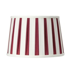 Абажур из хлопка в вертикальную красную и белую полоску 12 VERTICAL STRIPE LINEN (Cranberry)