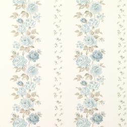 Бумажные обои в голубые цветы CLARISSA (Duck Egg)