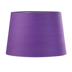 Абажур цилиндрической формы фиолетового цвета 12 PURPLE SHADE SILVER