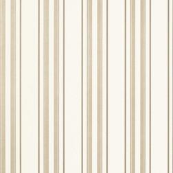 Тонкие бумажные обои в вертикальную полоску бежевого цвета HADLEY STRIPE (Natural)