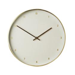 Настенные часы в золотистом обрамлении SOHO WALL Ø35 (Gold)