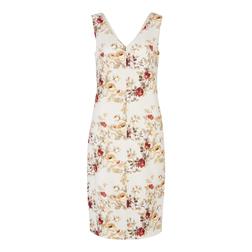 Платье-футляр бежевого цвета с принтом цветов MD 779