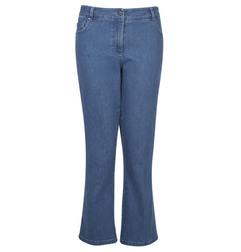Укороченные джинсы-клёш сине-голубого цвета TR 421