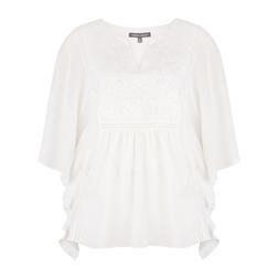 Блуза кремового цвета с кружевом BL 258