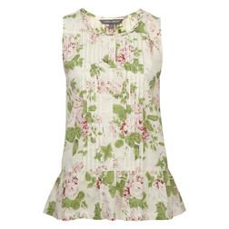 Блуза белого цвета с цветочным принтом BL 264