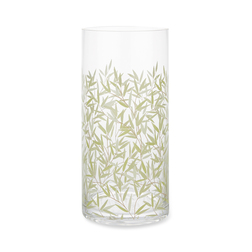 Стеклянная ваза с рисунком зеленой листвы ивы WILLOW VASE 24*11,6 (Green)