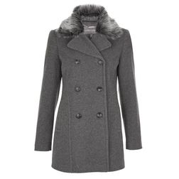 Шерстяное пальто с мягким воротником CT 154