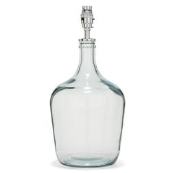 Стильная база для лампы среднего размера в форме стеклянной бутылки CHIDDINGFOLD PETITE H30 (Clear)