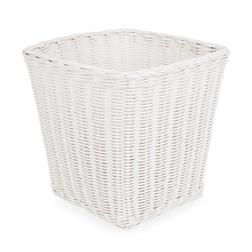 Плетеная корзина белого цвета RATTAN WASTEPAPER BIN 28*28*29 (White)
