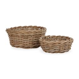Набор круглых корзин ROUND KUBU BASKETS SET OF 2 13,5*29, 9*23,5 (Natural)