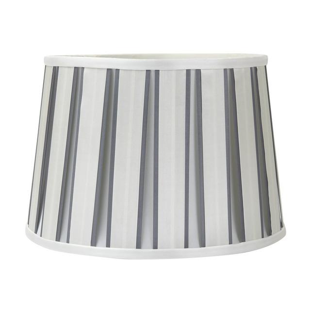 Большой абажур в вертикальную серебристую полоску 12 VERTICAL STRIPE (Silver)