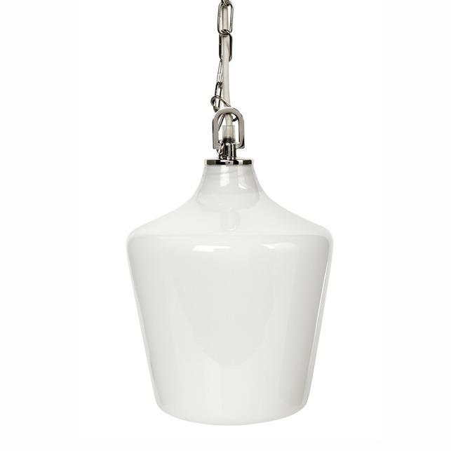 Люстра на длинной цепочке с белым плафоном OCKLEY  31,5*21*26 (White)