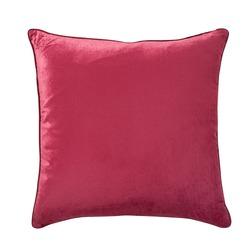 Большая плюшевая подушка клюквенного цвета NIGELLA 50*50 (Cranberry)
