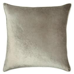 Плюшевая декоративная подушка трюфельного цвета NIGELLA 50*50 (Truffle)
