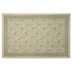 Тонкий ковер с цветочным рисунком в зелено-голубой гамме TORRINGTON 120*180 (Duck Egg)