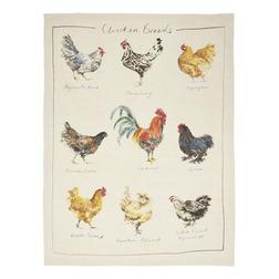 Набор кухонных полотенец с рисунком домашних курочек BRANSCOMBE SET OF 2 TEATOWELS 50*70 (Multi)