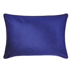 Прямоугольная плюшевая подушка насыщенного синего цвета NIGELLA VELVET 50*70 (Royal Blue)
