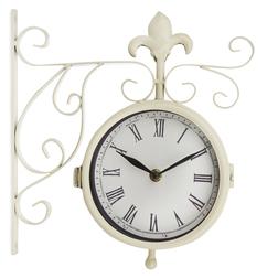Настенные часы с термометром OUTDOOR THERMOMETER WALL 32*9,5*27 (Cream)