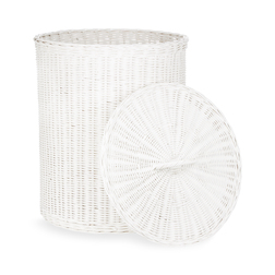 Белая корзина для белья RATTAN ROUND LAUNDRY BASKET 49*42 (White)
