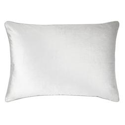 Прямоугольная плюшевая подушка серебристого цвета NIGELLA VELVET 50*70 (Silver)