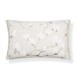 Подушка с вышивкой цветов магнолии MAGNOLIA GROVE EMB 40*60 (Natural)