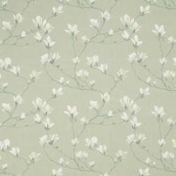 Ткань для штор с рисунком цветов магнолии MAGNOLIA GROVE (Hedgerow)