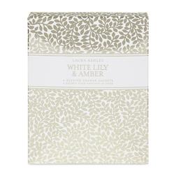 Ароматическая бумага с запахом лилии WHTE LILY & AMBER DRAWER SACHETS 13*14,5*1,5 (Multi)