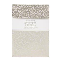 Ароматическая бумага с ароматом садовых растений SWEET PEA & FREESIA DRAWER SACHETS 13*14,5*1,5