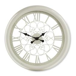 Большие часы кремового цвета CUT OUT WALL LARGE Ø62 (Cream)