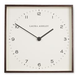 Квадратные часы в коричневой раме THOMAS WALL 35*35 (Brown)