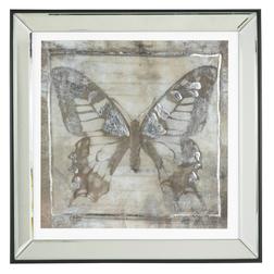 Картина под стеклом и в зеркальной раме BUTTERFLY IN MIRROR